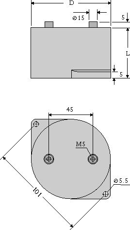 Maßzeichnung DC-LINK MKP 3 female