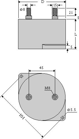 Maßzeichnung DC-LINK MKP 3 male